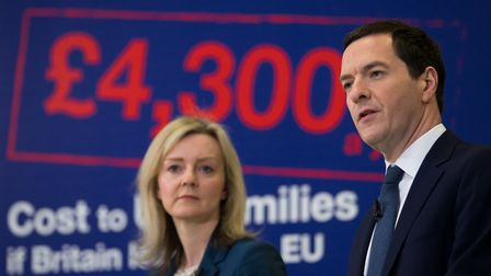 South West Norfolk MP Elizabeth Truss campaigning for Remain with the then Chancellor George Osborne
