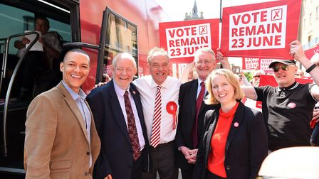 Clive Lewis (left) was one of the few MPs in Norfolk who voted the same way as the majority of his c