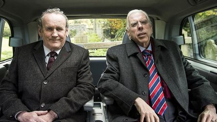 Colm Meaney as Martin McGuinness and Timothy Spall as Revd Ian Paisley in The Journey. Picture: IFC