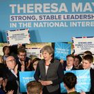 Prime Minister Theresa May speaking at the Hungerford Community Centre and Social Club in Bristol. P