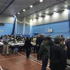 Counting under way in Lowestoft for the Suffolk County Council elections in the Waveney area. Photo: