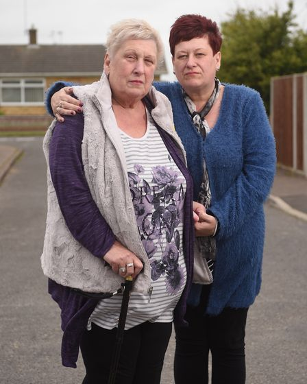 Maureen Chapman pictured with her daughter Laura Luxford. Picture : ANTONY KELLY