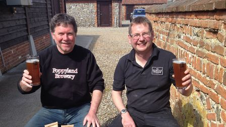 Pictured outside The Norfolk Brewhouse are Martin Warren (left) and David Holliday (right). Picture: