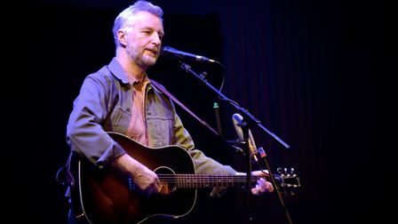 Billy Bragg, during a performance at Open earlier this year. He was at Norwich Arts Centre on Saturd