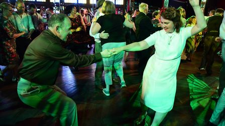 The Ragroof Tea Dance in the Adnams Spiegeltent for the Norfolk and Norwich Festival. Picture: DENIS