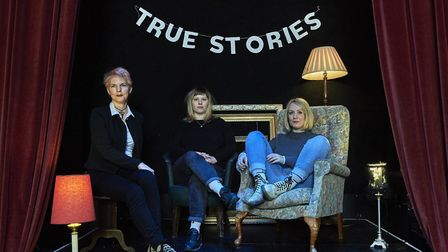 True Stories Live is celebrating its first anniversary. Pictured from left to right is Lucy Farrant