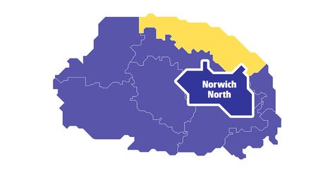 Constituency Map of Norwich North. Graphic: Robert McVicar.