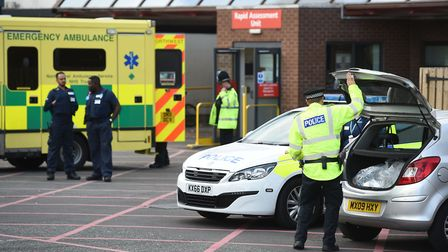The scene at Manchester Royal Infirmary as the death toll from the Manchester bomb attack rose to 22