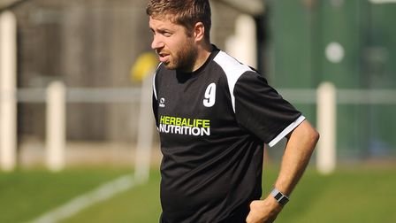 Robbie Harris - back for a second spell in charge at Fakenham Town. Picture: Ian Burt
