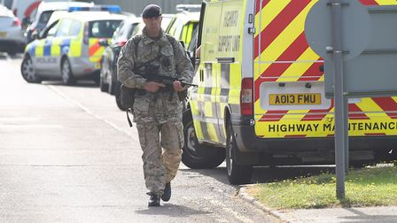 RAF Marham was on high alert last July after the attempted kidnapping of a serviceman. Picture: Ian
