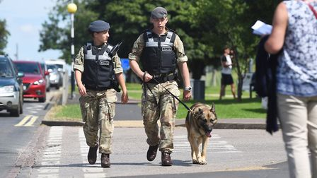 RAF Marham was on high alert after the attack on the serviceman last July close to the Norfolk base.