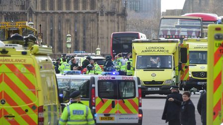 The aftermath of the attack at Westminster in March. Photo: Lauren Hurley/PA Wire