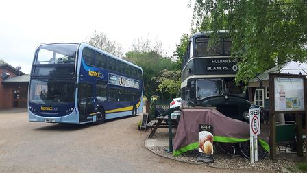 The new bus service linking Mulbarton and Norwich. Picture: Konectbus