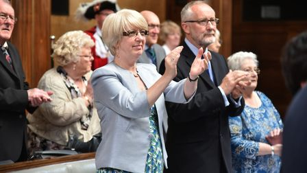 The new Lord Mayor and Shriff of Norwich are sworn in at a ceremony at City Hall in Norwich.Cllr Da
