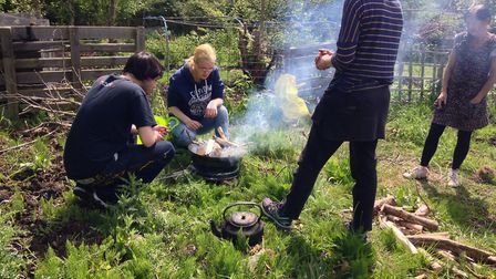 The Green Light Trust taster day at the Access allotment in Lowestoft. Picture: Access Community Tru