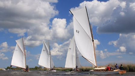 Action from the Acle regatta. Picture: Sue Hines