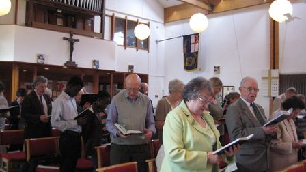 A service in St Matthew's Church and Community Centre in Thorpe Hamlet, Norwich. Picture: CELIA FRYE