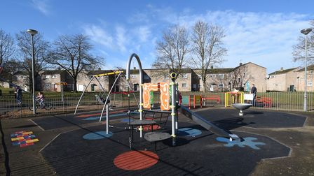 A play park on the Redcastle estate in Thetford. Picture: ANTONY KELLY