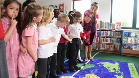 Sara Stanley, children's philosophy consultant discusses not crossing a line with pupils at St Mary