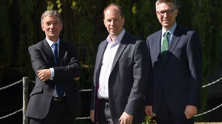 Top 100 partners, from left, James Allen of Roche Chartered Surveyors; Andy Grimbly of PwC; and Jame