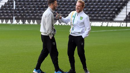 Friendly rivalry - Wes Hoolahan, left, and Alex Pritchard. Picture: Paul Chesterton/Focus Images Lt