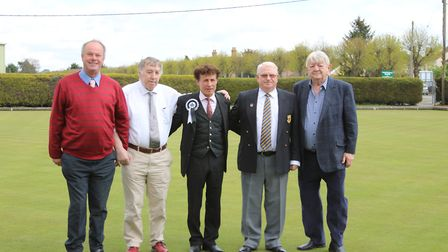 Councillors who helped fund work at Brandon Town Bowling Club attend the first match of the season.