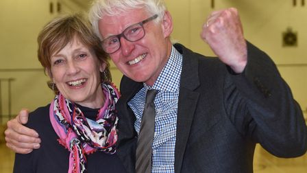 Norman Lamb MP with his wife Mary. Picture : ANTONY KELLY