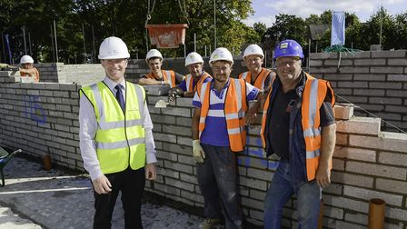 Scott Weatherbed, McCarthy and Stone Contracts Manager and the team in the East Midlands. Picture: M