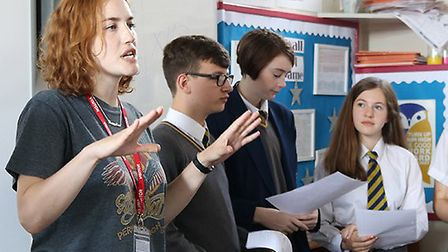 Hewett Academy poetry workshop with Rosy Carrick. Picture: Submitted