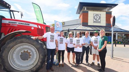 Backing British Farming on Suffolk Food Friday. National Farmers Union are urging Suffolk shoppers t