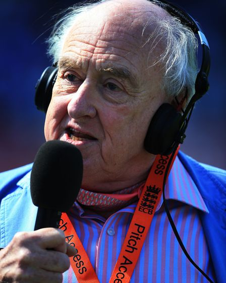 'Blowers' has commentated on Test Match Special for 45 years. Picture: Nick Potts/PA Wire.