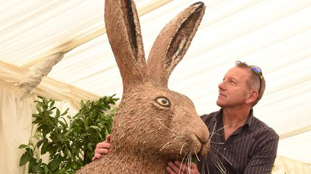 Michael Rooney from Break with the latest GoGoHare ahead of it being unveiled at the Royal Norfolk S