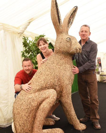 Martin Green, Sarah Bunn and Michael Rooney from Break with the latest GoGoHare ahead of it being un