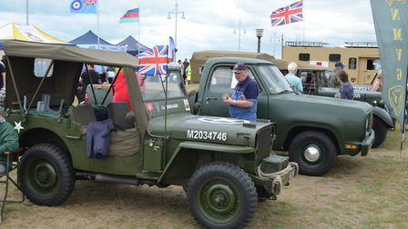Military vehicles on display at Lowestoft's Armed Forces Day. Pictures: Mick Howes