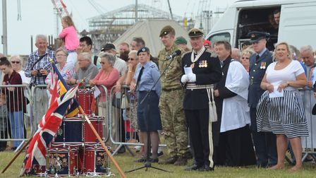 Armed Forces Day in Lowestoft. The Drumhead Service Pictures: MICK HOWES