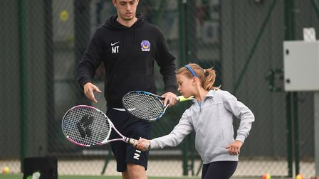Hingham Tennis have won the LTA National Club of the Year 2017 award. Pictured are tennis coach Mike