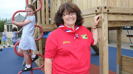 Sheringham Primary School teacher Helen West, who, in her role as a Guide leader, will be travelling