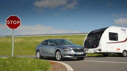 1,400 to 1,549kg and fuel economy award  S koda Superb 2.0 TDI 150PS SE L Executive. Picture: Tow C