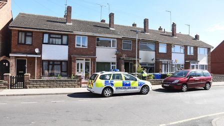 The scene of the fire in Stanley Street, Lowestoft. Picture: Nick Butcher.