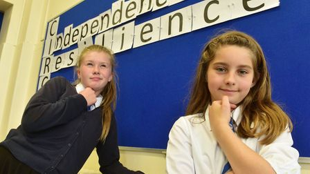 Youngsters at The Dell Primary School, Oulton Broad take part in a spelling bee contest.Competition