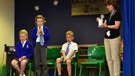 Dell Primary School children take part in a spelling bee contest.Pic: Nick Butcher