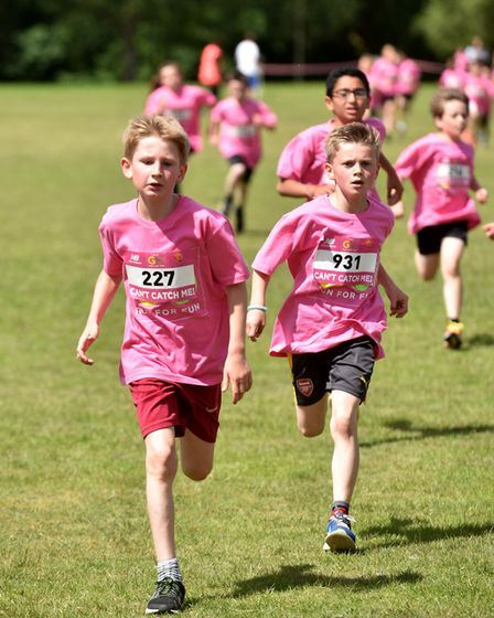 The sun was shining as more than 1,500 children took part in the event. Photo:SOnya Duncan
