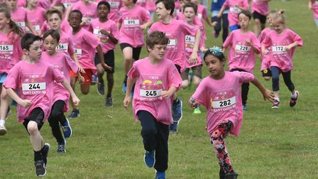 The race wasn't timed, but every child who started the race completed the course. Photo: Sonya Dunca