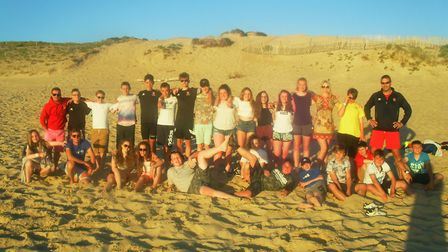 Students and staff from Ormiston Denes Academy in Lowestoft during their residential trip to France.