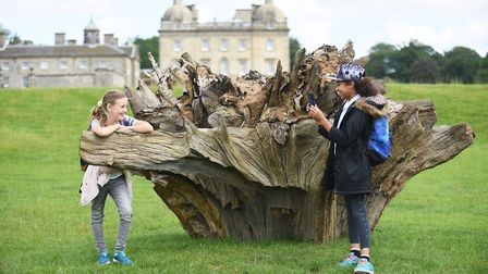 Norfolk pupils had the chance to explore the art and the heritage of Houghton Hall. Pictured are you