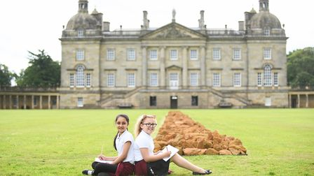 Norfolk pupils had the chance to explore the art and the heritage of Houghton Hall. Pictured from Fa