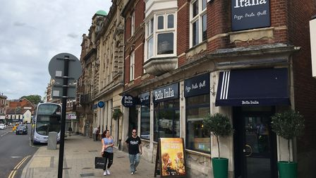 Bella Italia in Red Lion Street, where permission is sought to place tables and chairs on the paveme