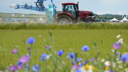 Cereals event 2016, Chishall Grange, Cambs. Pictured: Sprayers Arena.