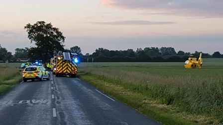 A police spokesman said emergency services were called at 8.40pm on Tuesday to reports that a motorb
