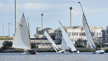 Yachts racing in Cantley Reach. Picture: Kelvin Halifax